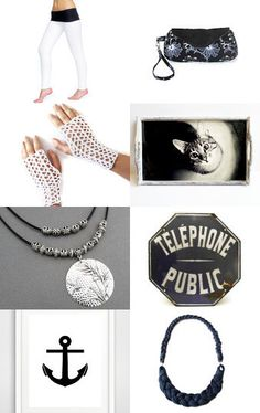 Black and White by Nana on Etsy--Pinned with TreasuryPin.com