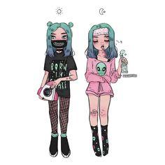 """Gefällt 12.9 Tsd. Mal, 64 Kommentare - m i c h e l l e (@procrastiartist) auf Instagram: """"☀️ • • • #illustration #instaart #spacegirl #oc #ootd"""""""
