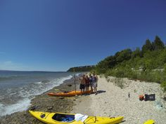 Enjoy views of the Mackinac Island Lighthouse and more. Our devils kitchen tour is Perfect! Book MackinacKayak.com