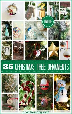 35 Unique Christmas Ornaments at Craftionary.net #Christmas #ornaments