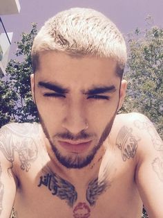 Chilling: Zayn Malik posted a carefree selfie on Twitter on Tuesday afternoon which saw th...