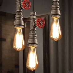 Inspired by plumbing pipe and a creative imagination, this retro industrial loft mini rust metal water pipe, single-light pendant light will add a stylish industrial look to your decor. Exposed vintag