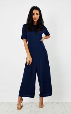 So They Say Bianca Jumpsuit (Navy) - SilkFred