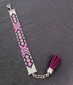 B Loom Bracelet Patterns, Seed Bead Patterns, Bead Loom Bracelets, Seed Bead Jewelry, Beaded Jewelry, Handmade Jewelry, Seed Beads, Bead Loom Designs, Motifs Perler