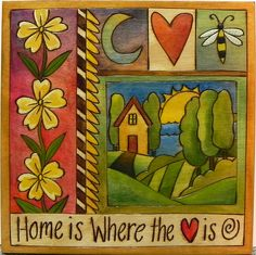 Sticks Plaque - Home is Where the Heart Is - at Smith Galleries