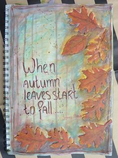 Art journal page, autumn leaves, by Sofia Gaal