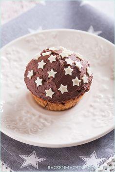Winterlicher Spekulatius-Muffin mit Schokoladenfrosting