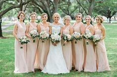 Pink Jenny Yoo Annabelle Bridesmaid Dresses | Kristen Weaver Photography on /eadweddings/ via /aislesociety/