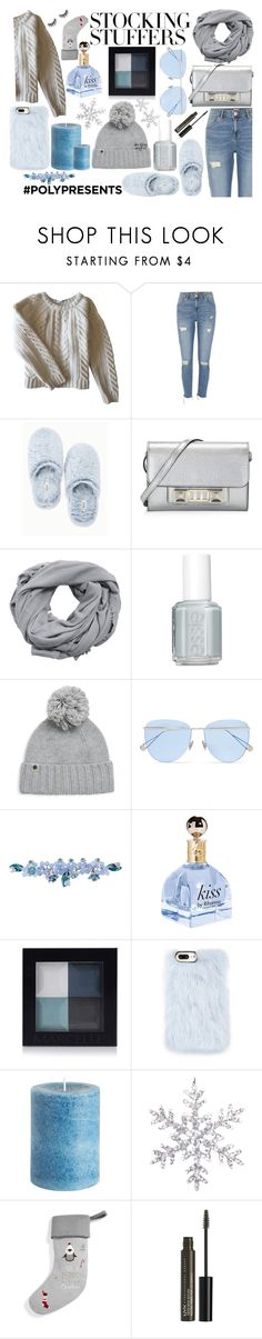 """#PolyPresents: Stocking Stuffers"" by shavorn-vukas ❤ liked on Polyvore featuring Anine Bing, River Island, Soma, Proenza Schouler, MANGO, Essie, UGG, Sunday Somewhere, Sretsis and Skinnydip"