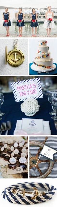 nautical wedding inspiration - each tabled named after a beach you've been to together!