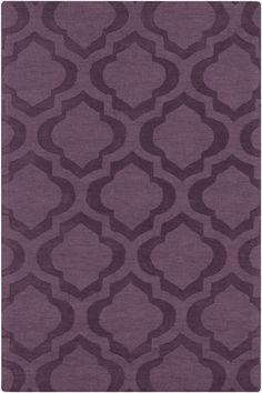 Central Park Purple Geometric Kate Area Rug