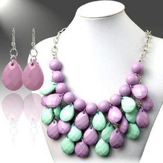 Use coupon code: pin10 for 10% off your first purchase on www.blondellamydean.com  #earrings #necklace #purple #green #jewelry #blondellamydean
