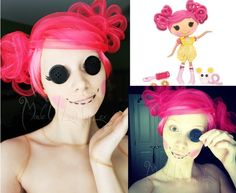 lalaloopsy doll make up by alexys fleming halloween party costumeshalloween