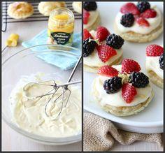Puff Pastry Dessert Rounds with Lemon Mascarpone & Fresh Berries Recipe by CookinCanuck, I love lemon!