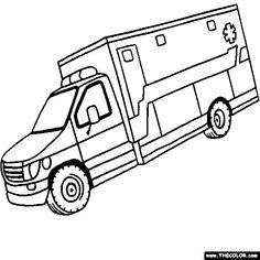 ambulance coloring page - Ambulance Coloring Pages Print