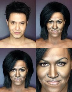 El filipino Paolo Ballesteros se transforma en #famosas solo con #maquillaje. Michelle Obama