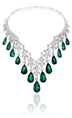 Chopard Emerald and Diamond Necklace ♥ ♥ ♥