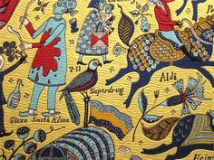 Grayson Perry looks at class and taste in his amazing tapestries. Grayson Perry Tapestry, Grayson Perry Art, Folk Fashion, Fashion Art, Folk Clothing, Pop Surrealism, Weird And Wonderful, Vintage Patterns, All Art