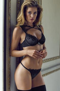 "Doutzen Kroes hot sexy see through ""Hunkemoller"" lingerie photo shoot HQ photos Belle Lingerie, Hot Lingerie, Black Lingerie, Fashion Lingerie, Doutzen Kroes, Beautiful Lingerie, Mannequins, Playboy, Hot Girls"