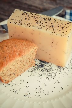 Handmade artisan Orange Poppy seed soap