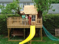 kids tree house ideas | Landscaping Ideas & Garden Ideas > Kids Treehouse