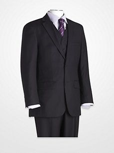 Blair Underwood Navy Multistripe Vested Suit