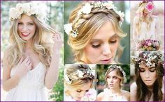Live and artificial flowers in the bride's hair - how to choose and strengthen?