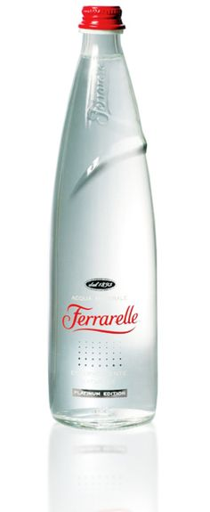 Ferrarelle - Clean minimalism at its best. Excellent packaging of a mineral water bottle.