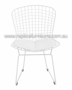 Buy the Harry Bertoia Wire Side Chair from Replica Furniture online Melbourne. This reproduction steel wire chair is based on the designs of Harry Bertoia, an Italian Designer. Buy powdercoat Bertoia Wire Chairs online on sale at Replica Furniture. Home Furniture Online, Cafe Furniture, Furniture Design, Harry Bertoia, Wire Chair, Chairs Online, My Room, Bar Stools, Dining Table
