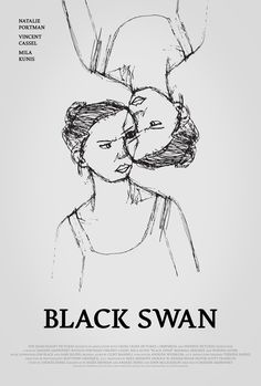 Poster for Black Swan by Scott Saslow. #blackswan #darrenaronofsky #natalieportman #vincentcassel #milakunis #barbarahershey #winonaryder #2010s #psychologicalthriller #drama #ballet #swanlake #tchaikovsky #clintmansell #movieposter #graphicdesign #posterdesign #fanart #alternativefilmposter #alternativemovieposter #photoshop