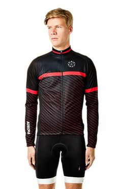 Boys Jersey - Circle Red Langarm , schwarz   Official Rad Race Shop
