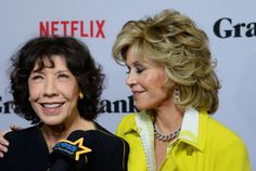 "Cast members Lily Tomlin (L) and Jane Fonda attend the premiere of Netflix's comedy series ""Grace and Frankie"" at Regal LA Live in Los Angeles on April 29, 2015. Storyline: Tomlin and Fonda co-star as two women forced to reinvent their lives when their husbands announce they're leaving their wives for each other. Photo by Jim Ruymen/UPI"