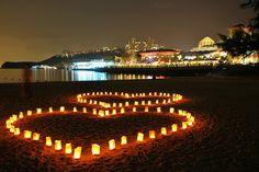 Hearts on the beach