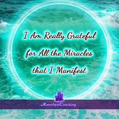 Today's Affirmation: I Am Really Grateful For All The Miracles That I Manifest <3 #affirmation #coaching It is not enough just to repeat words, while repeating the affirmation, feel and believe that the situation is already real. This will put more energy into the affirmation.