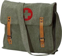 Vintage RED CROSS Medic Shoulder Bag (Sage Green Vintage) $14.99