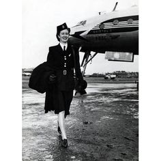 "1940s stewardess. (Lt. Kay Jobson in ""In Perfect Time"" worked as a stewardess before becoming a WWII flight nurse)"