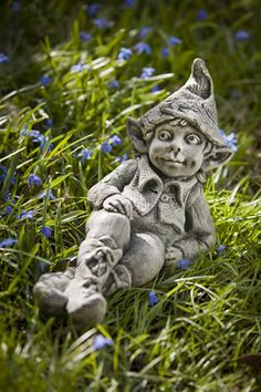 Colin cast stone pixie statue made by Campania International