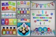 Teletubbies Personalised Birthday Party Decorations Supplies Packs Shop Online Australia Banners Bunting Wall Display Cupcake Toppers Chocolate Wrappers Juice Water Pop Top Labels Posters Lanterns Invites Cup Stickers Ideas Inspiration Cake Table Katie J Design and Events 1st First Birthday