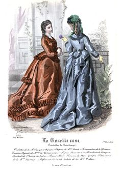 Discover recipes, home ideas, style inspiration and other ideas to try. 1870s Fashion, Edwardian Fashion, Historical Costume, Historical Dress, Fashion Plates, Fashion History, Dress Me Up, Vintage Ladies, Fashion Show