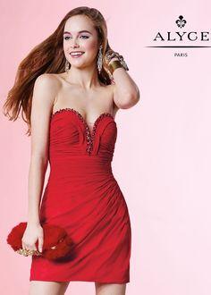 Alyce 4413 Slim Fit Short Jersey Dress