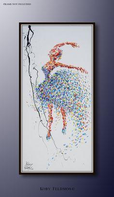 Primaballerina Malerei 60 original-Gemälde auf von KobyFeldmos