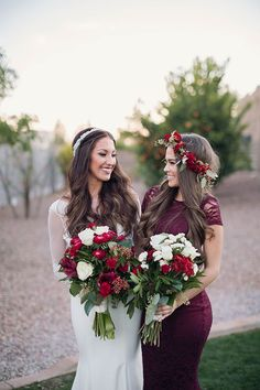 Beautiful portrait of the bride and bridesmaid by Unfading Beauty Photography