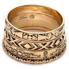 Samantha Wills Memories Of Yesterday Bracelet Set - Gold (250 BGN) ❤ liked on Polyvore