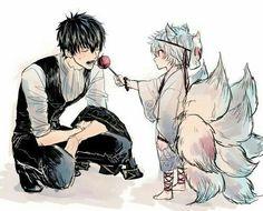 Sakata Gintoki x Hijikata Toushirou (GinHiji/HijiGin) Manhwa Manga, Manga Anime, Anime Art, Anime Love, Anime Guys, Gintama, Gekkan Shoujo, Okikagu, Kawaii