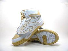 Jeremy Scott Adidas Wing (JS WINGS) Gold/White http://amznshopping.com/sneakers