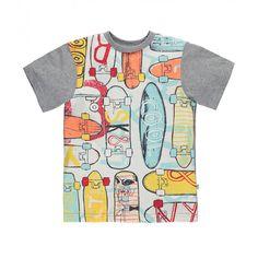 Skateboard t-shirt! / Le t-shirt rouli roulant!