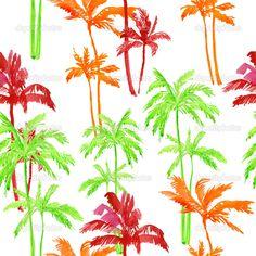 Yükle - Desen ve palmiye ağaçlarının - Stok İmaj #47547369