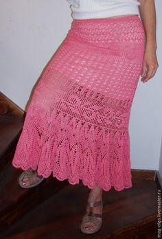 """Юбки ручной работы. Ярмарка Мастеров - ручная работа. Купить Юбка """"Розовый сон"""". Handmade. Коралловый, юбка ажурная"""