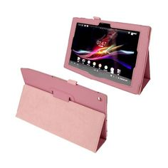 Simple (Pink) Sony Xperia Tablet Z 10.1 Leather Flip Case