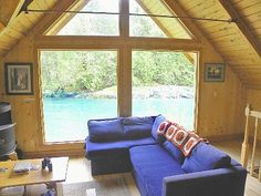 VRBO.com #174677ha - Riverfront Cabin, Own Beach, Hot Tub Over River, Unsurpassed View, Dog Welcome. Horseback riding nearby. $190/night.